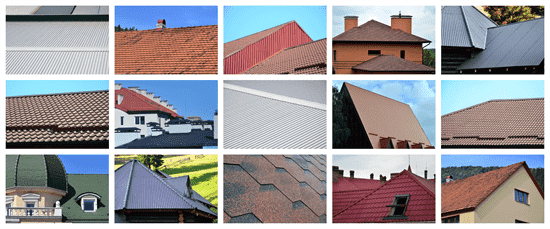 the different types of roofs