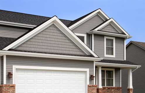 Information about popular types of home siding for new homes for Fire resistant house siding material hardboard